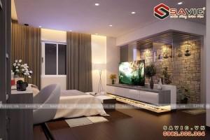 Thiết kế nội thất đẹp chung cư gram màu lạnh trầm lắng NTC1601