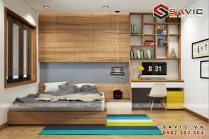 Thiết kế không gian nội thất chung cư đẹp phong cách hiện đại NTC1602
