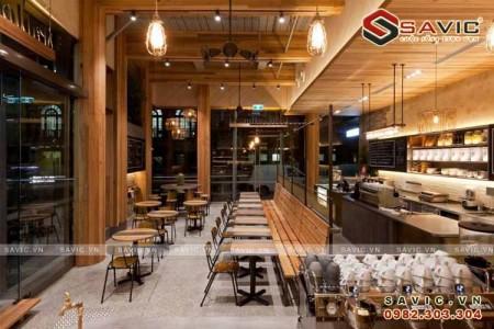 Thiết kế nội thất nhà hàng đẹp phong cách hiện đại NTV1501