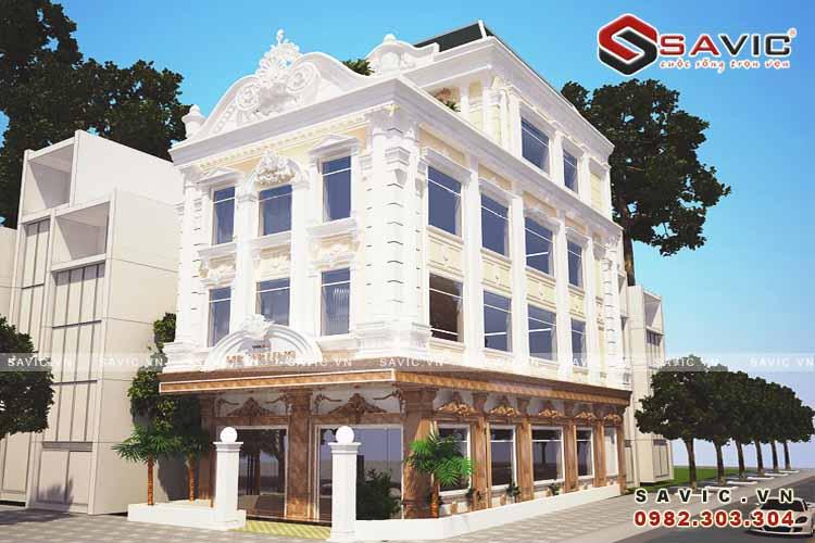 Mẫu thiết kế kinh doanh nhà hàng khách sạn cổ điển BT1600