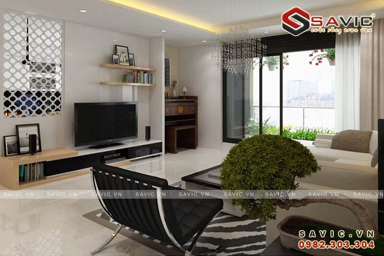 Thiết kế nội thất chung cư phong cách hiện đại phóng khoáng NTC1503