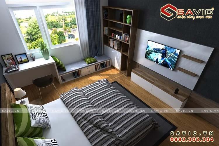Nội thất phòng ngủ 2 chung cư NTC1506