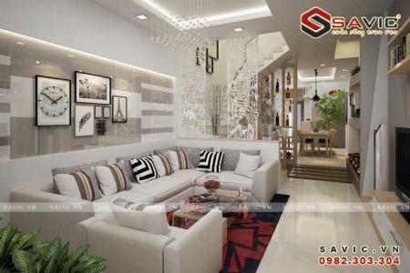 Ngắm nhìn không gian sang trọng trong thiết kế nội thất nhà phố NTO1504