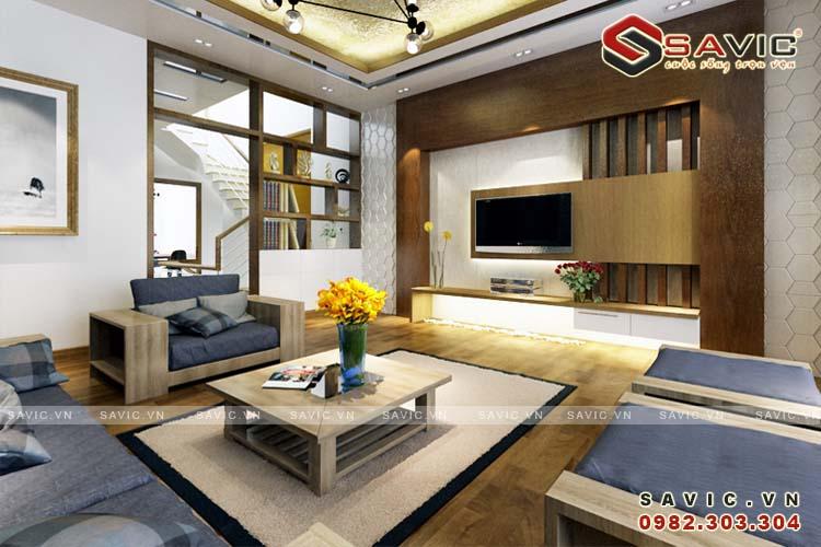 Thiết kế nội thất hiện đại mang đến không gian thông thoáng NTO1506