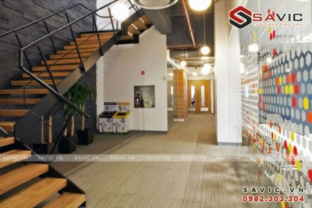 Nội thất văn phòng với không gian làm việc trẻ trung năng động NTV1505