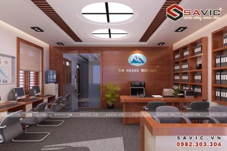 Thiết kế nội thất văn phòng đẹp không gian hiện đại NTV1506