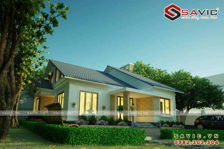 Mẫu nhà cấp 4 đơn giản đẹp ở nông thôn ai cũng có thể sở hữu BT1547