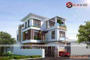 Thể hiện phong cách sống với biệt thự đẹp 3 tầng hiện đại BT1550