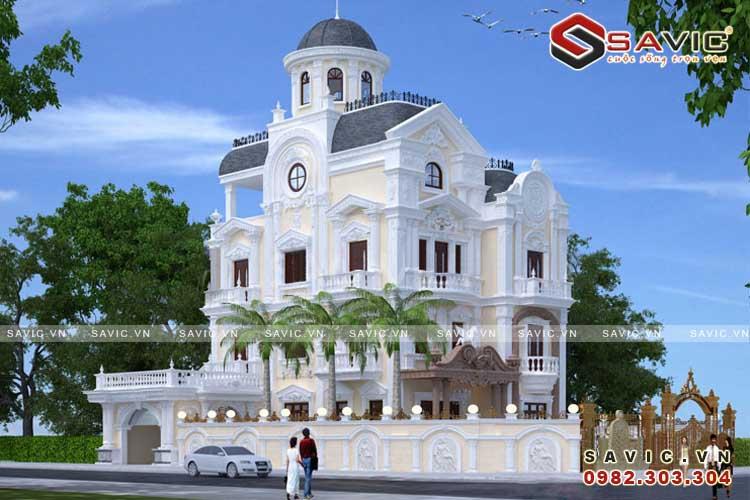 Lâu đài dinh thự đẹp phong cách cổ điển nguy nga lộng lẫy BT1601