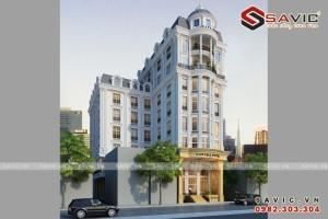 Mẫu thiết kế khách sạn 7 tầng đẹp và sang trọng BT1604