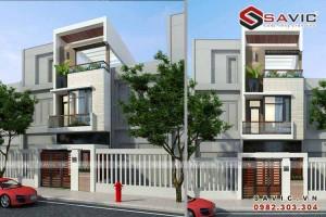 Mẫu nhà phố đẹp 3 tầng nổi bật với diện tường ốp gạch Inax NO1506