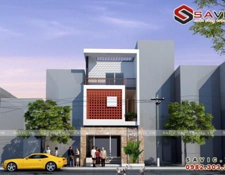 Nhà phố đẹp 3 tầng phong cách vitage và lưới tường độc đáo NO1508
