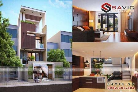 Mẫu nhà phố đẹp 4 tầng kết hợp không gian xanh NO1502