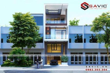 Mẫu nhà phố đẹp 4 tầng hiện đại độc đáo và bắt mắt NO1503