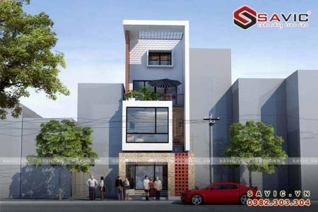 Mẫu nhà phố hiện đại 4 tầng đẹp và thông thoáng NO1510