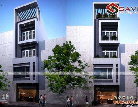 Mẫu nhà phố đẹp 5 tầng gram màu trầm lắng 4 x 14m2 NO1500