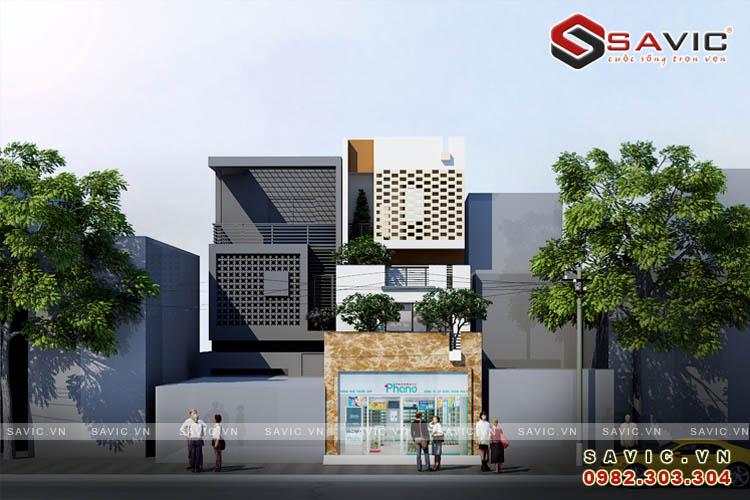 Nhà phố 3 tầng kết hợp kinh doanh nhà hàng quán ăn NO1601