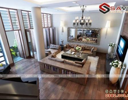 Mẫu nội thất biệt thự đẹp thiết kế theo xu hướng hiện đại NTB1502