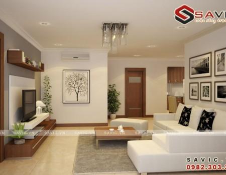 Không gian thanh lịch thiết kế nội thất chung cư đẹp hiện đại NTC1504