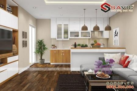 Xem cách bố trí gọn gàng hợp lý mẫu nội thất chung cư đẹp NTC1505
