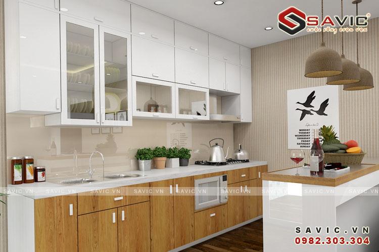 Nội thất phòng bếp mẫu nội thất chung cư đẹp NTC1505