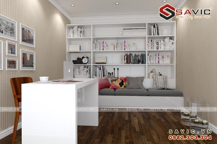 Nội thất phòng đọc sách mẫu nội thất chung cư đẹp NTC1505