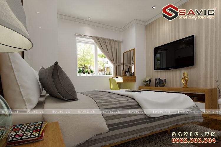 Nội thất phòng ngủ mẫu nội thất chung cư đẹp NTC1505