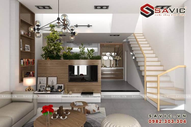 Không gian nội thất phòng khách chung cư NTC1509