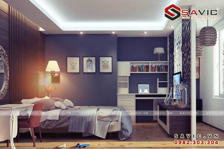 Không gian nội thất phòng ngủ 2 chung cư NTC1509