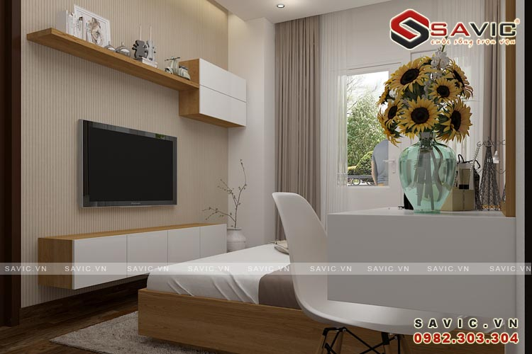Thiết kế phòng ngủ nội thất chung cư đẹp NTC1507