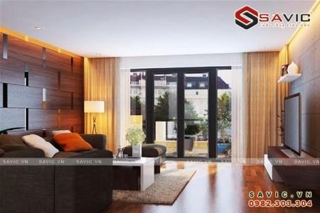 Thiết kế nội thất nhà phố hiện đại kết hợp ánh sáng thiên nhiên NTO1501