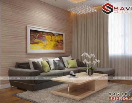 Thiết kế nội thất chung cư đẹp tạo cảm giác rộng rãi thông thoáng NTC1502