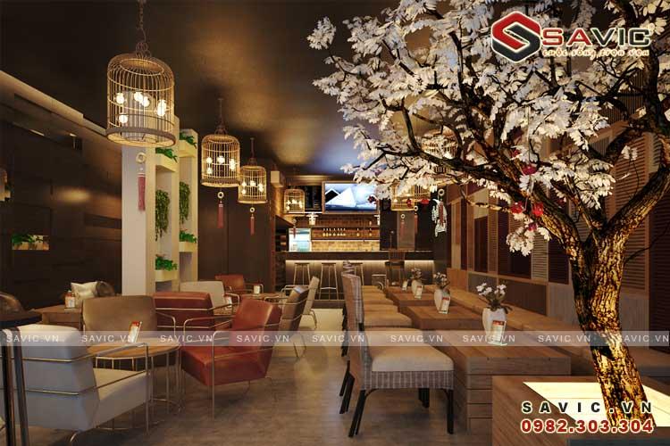 Thiết kế nội thất hiện đại quán cafe đẹp nhẹ nhàng tinh tế NTV1503