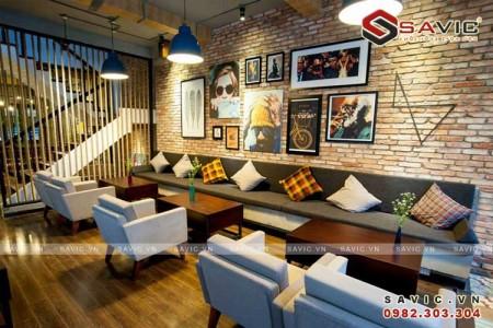 Thiết kế nội thất nhà hàng kinh doanh quán cafe đẹp NTV1504