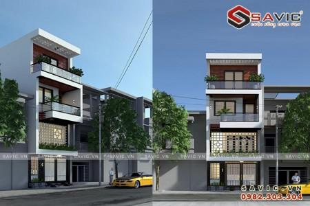 Mẫu nhà phố đẹp 4 tầng phong cách hiện đại NO1606