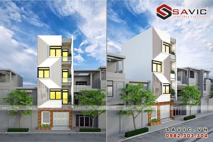 Độc đáo trong thiết kế nhà phố 4 tầng hiện đại NO1607