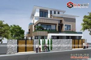 Tinh tế trong từng chi tiết với thiết kế biệt thự 3 tầng hiện đại BT1629