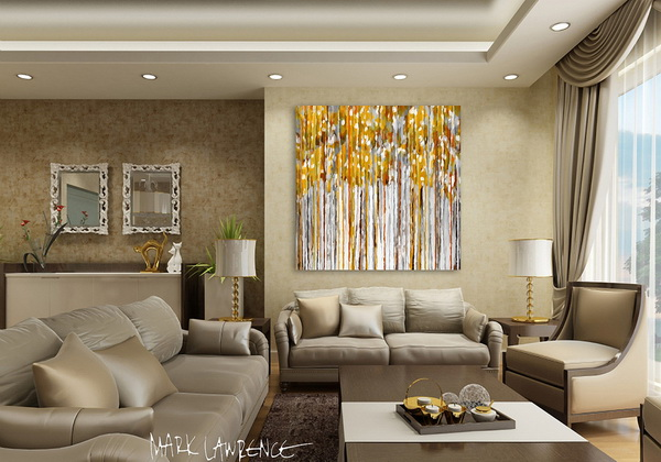 Tô điểm không gian nội thất với những bức tranh nghệ thuật trừu tượng