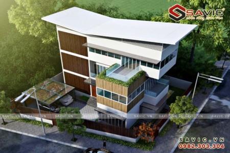 Mẫu biệt thự 3 tầng kết hợp văn phòng kinh doanh BT1637