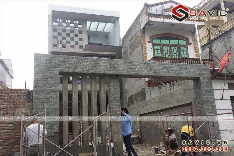 Thi công hoàn thiện cổng tường ràoNO1517