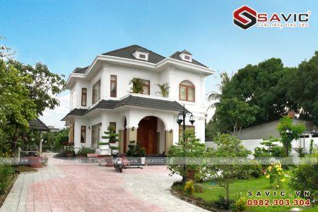 Thi Công nhà đẹp 2 tầng gram màu trắng nhẹ nhàng thanh thoát BT1575